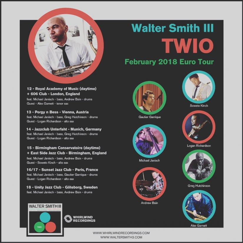 Walter Smith Feb 2018 tour poster