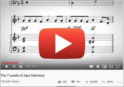 7 levels jazz harmony youtube play button