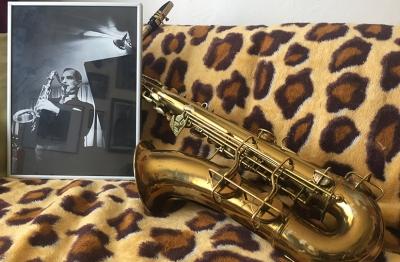 Alex Garnett's saxophone, which once belonged to Ronnie Scott
